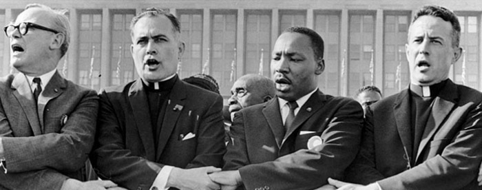 Rev. Martin Luther King and Rev. Theodore M. Hesburgh, Chicago
